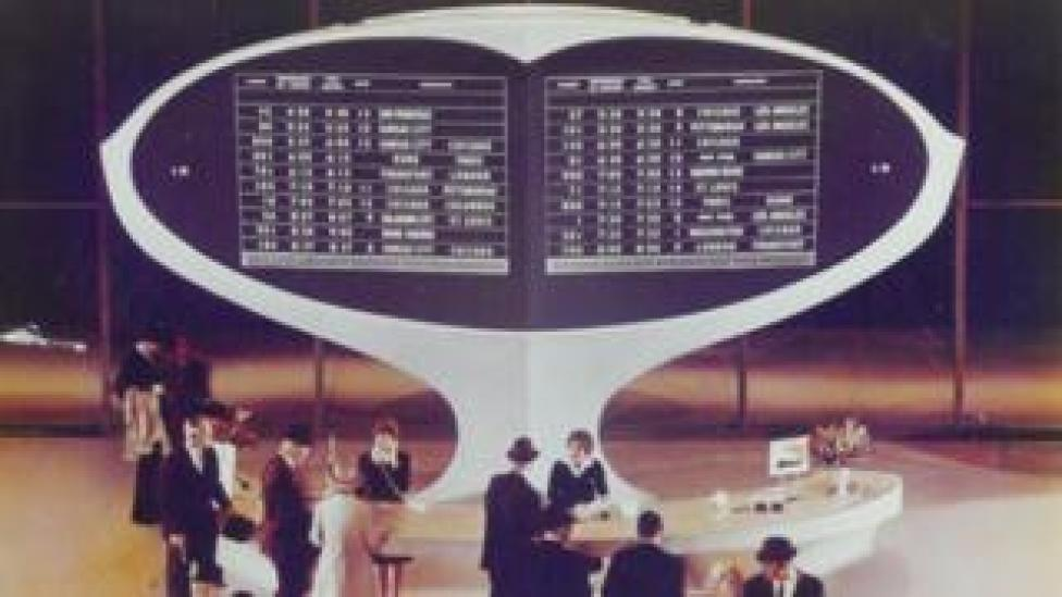 The Solari board at JFK Airport, New York, 1962