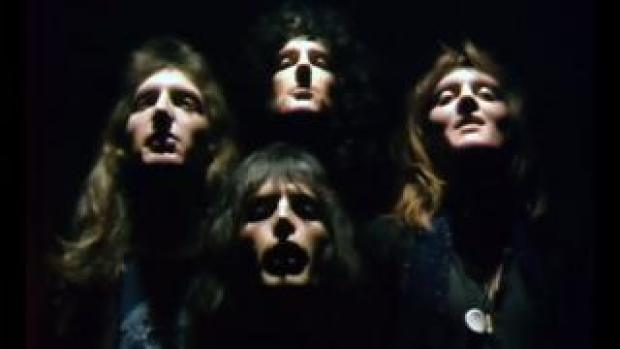 Queen in the video for Bohemian Rhapsody