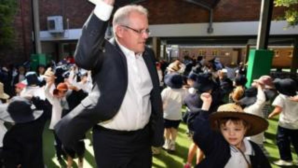 NEWS Prime Minister Scott Morrison visits to Galilee Catholic Primary School in Sydney, Australia, 21 September 2018.