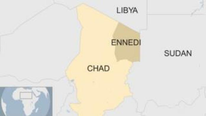 Map shows Chad, Libya and Sudan