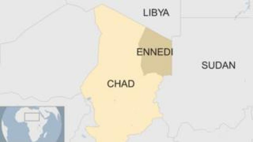 Map shows Chad, Libya and Sudan