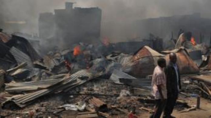 L'incendie du marché Gikomba à Nairobi en octobre 2017 (illustration).