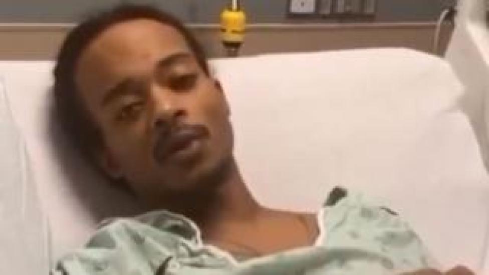 trump Screenshot of Jacob Blake in hospital