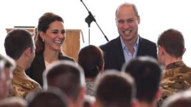 The Duke and Duchess of Cambridge at RAF Akrotiri base