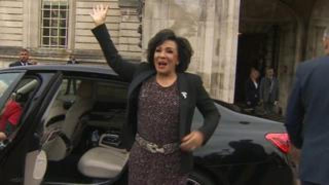 Shirley Bassey outside City Hall