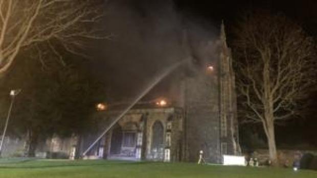 Fire at St John the Baptist Church, Royston