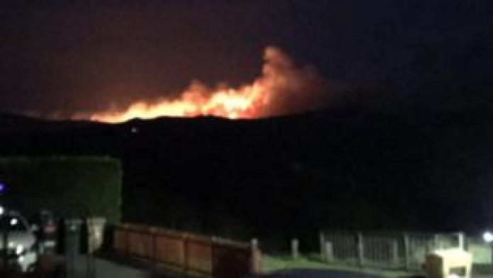 Forest fire in Dalmellington