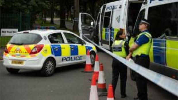 Police cordon near Bristol Road, Birmingham