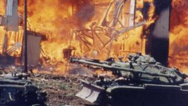 The fire after the Waco siege