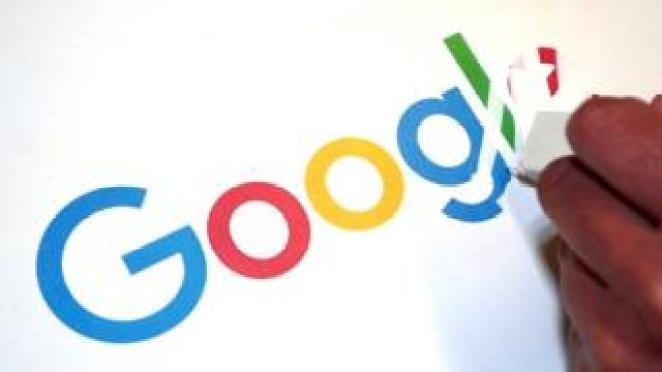 Google logo being erased