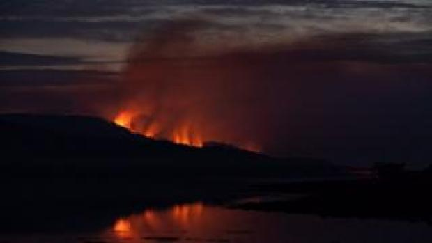 Wildfires on Bute