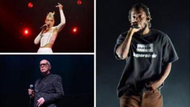 Dua Lipa, Kendrick Lamar and Pet Shop Boys