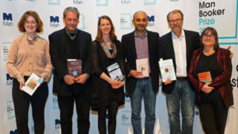 The Man Booker nominees Fiona Mozley, Paul Auster, Emily Fridlund, Mohsin Hamid, George Saunders and Ali Smith