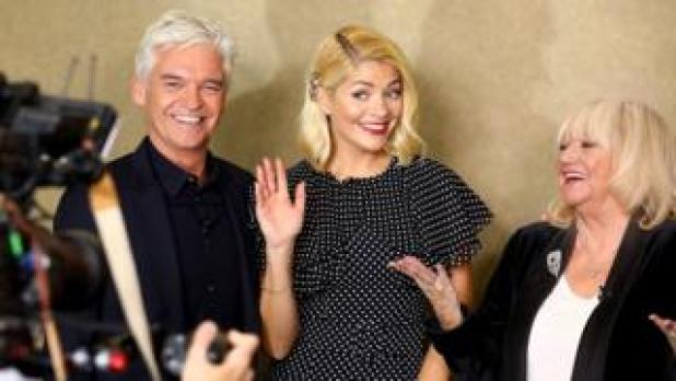 Phillip Schofield, Holly Willoughby and Judy Finnigan