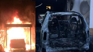 Windows Phone: A composite speak of Ferat's Kocak's vehicle which was as soon as deliver on fire in 2018. Composite shows the vehicle earlier than and after it was as soon as burned
