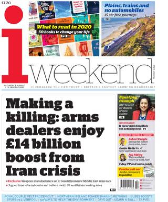 i weekend front page