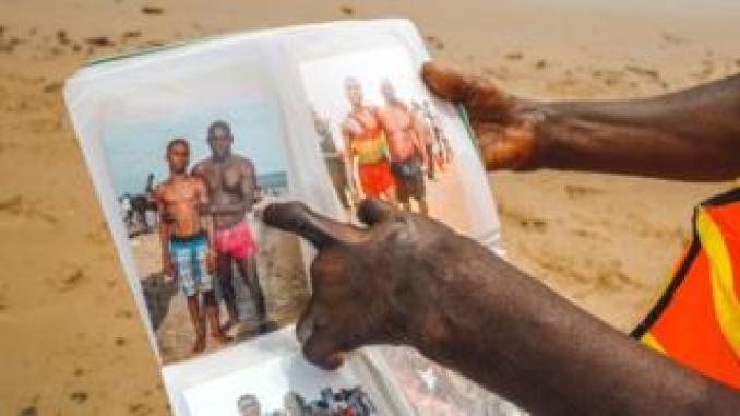 Lagos lifeguard Samuel Omohon shows album he keeps, Nigeria