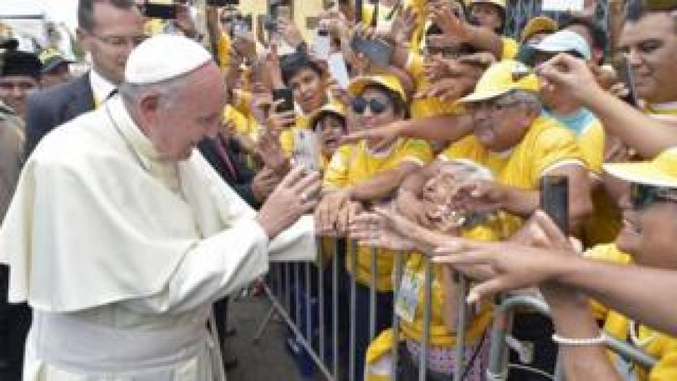 The Pope in Trujillo, Peru