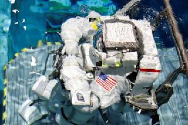 Astronauts train at the Johnson Space Center