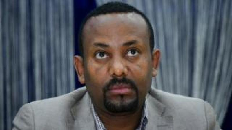 "The leader of the ""Oromo Peoples Democratic Organization"" (OPDO) Abiy Ahmed looks on during a news conference in Aba Geda, Ethiopia, 02 November 2017"