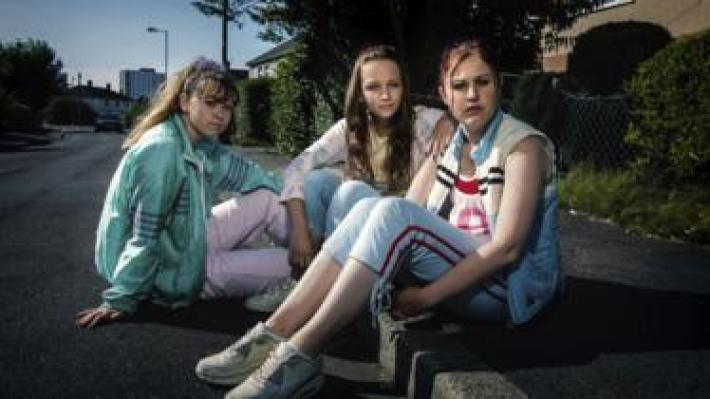 Three actors from the BBC drama Three Girls, which focuses on the Rochdale grooming scandal