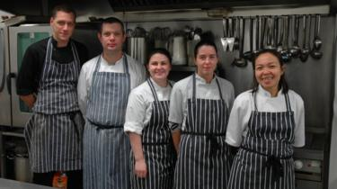 Regis Banqueting kitchen staff