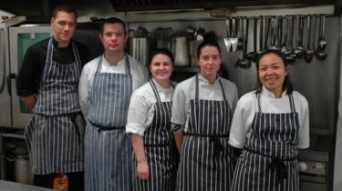 Regis Banqueting kitchen staff