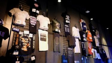 Hillsong and Mack Brock merchandise on sale at The Anthem