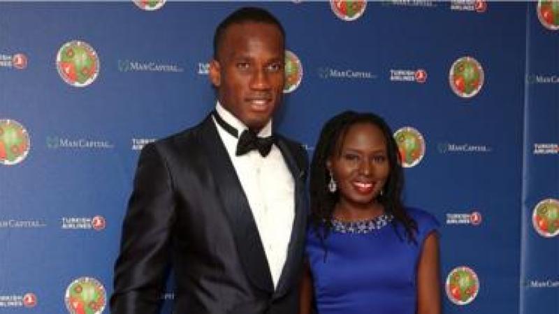 Didier Drogba rend hommage à sa femme Lala Diakité