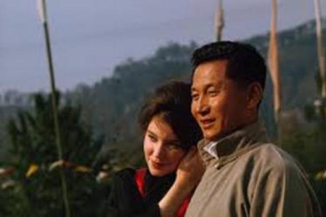 चोग्याल और उनकी पत्नी