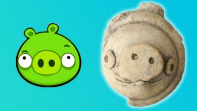 3 000 Year Old Clay Pig Looks Like It S From Angry Birds Cbbc Newsround