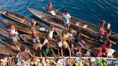 Mercado de barcos, Ilhas da Flórida, Ilhas Salomão.