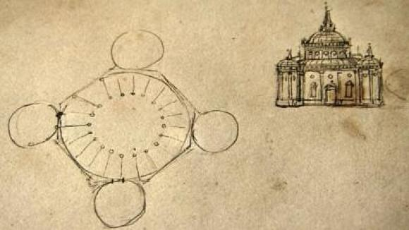 Diseños de Da Vinci de catedral