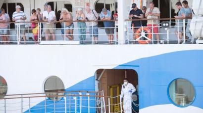 Coronavirus: Tourists quarantined on cruise ship Aidamira off ...