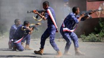 مقاتلون يمنيون قيد التدريب