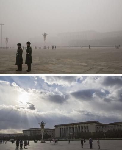 Beijing smog: Images before and after - BBC News
