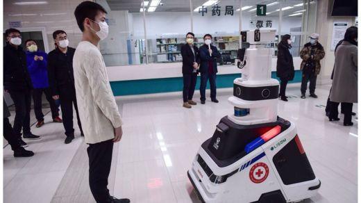 Un robot desplegado en un hospital