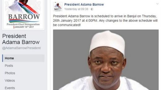 Adama Barrow's Facebook