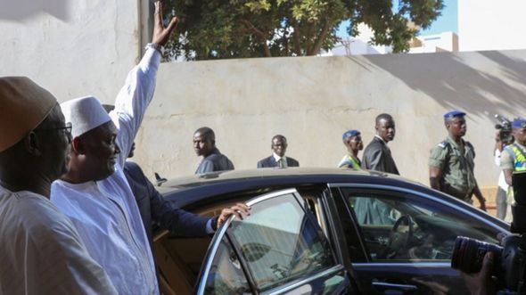 Gambia's new President, Adama Barrow in Senegal (19/01/2017)