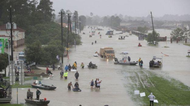 Inundaciones producidas por el huracán Harvey en Texas.