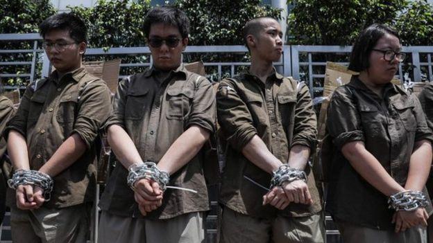 Resultado de imagen para Fotos de Las movilizaciones en Hong Kong
