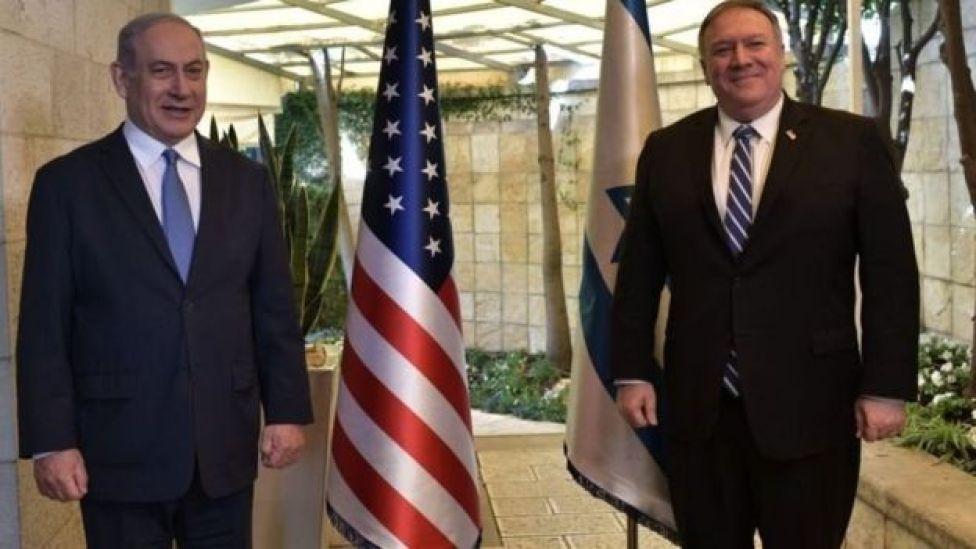 وزير الخارجية الأمريكي يلتقي بنيامين نتنياهو
