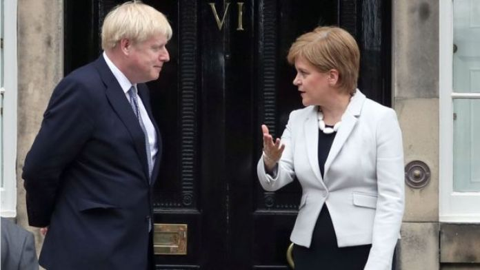 "Nicola Sturgeon said she was ""always happy to meet the prime minister"""