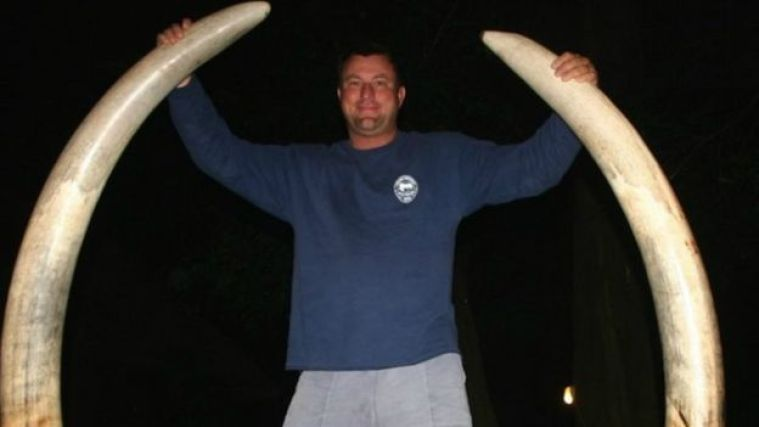 Theunis Botha with two large horns