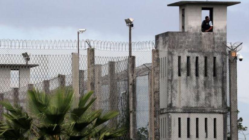 Guarda no complexo penitenciário de Itatinga