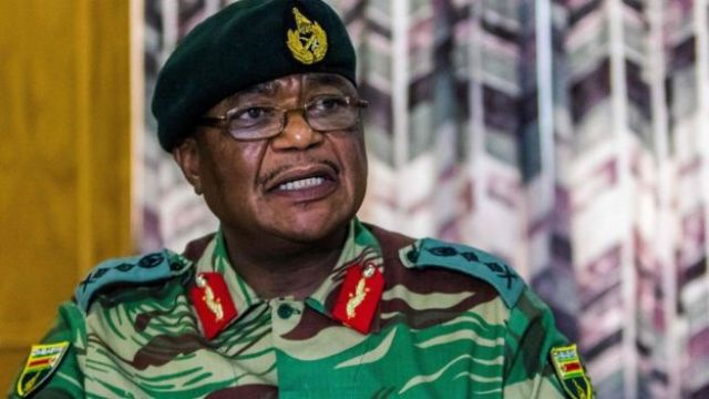 Zimbabwe Army General Constantino Chiwenga addresses a media conference on November 13, 2017