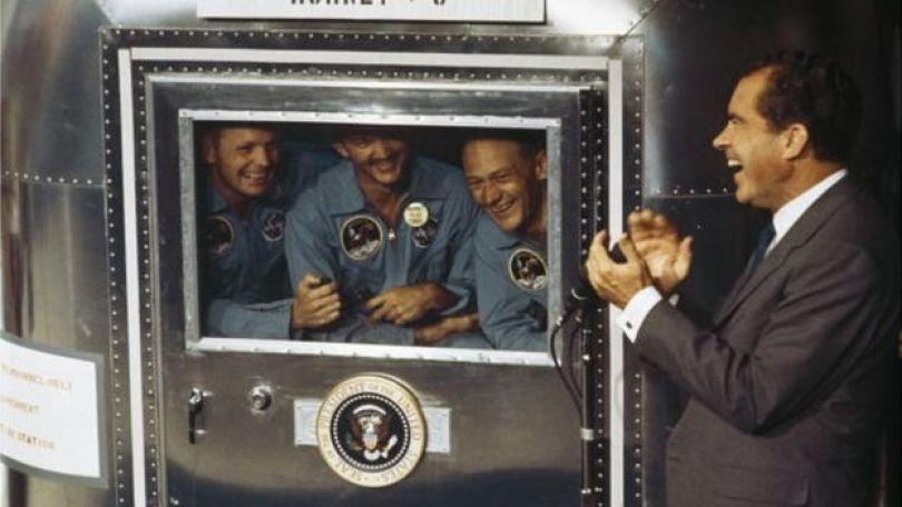 Richard Nixon e tripulação da Apollo 11
