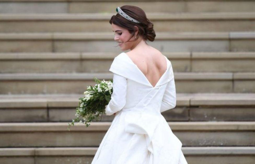 La princesa Eugenia en su vestido de bodas.