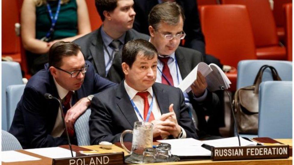 Заместитель постпреда РФ в ООН Дмитрий Полянский