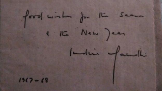 इंदिरा गांधी का लिखा शुभेच्छा पत्र